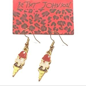 Betsey Johnson Style - Ice Cream Drop Earrings